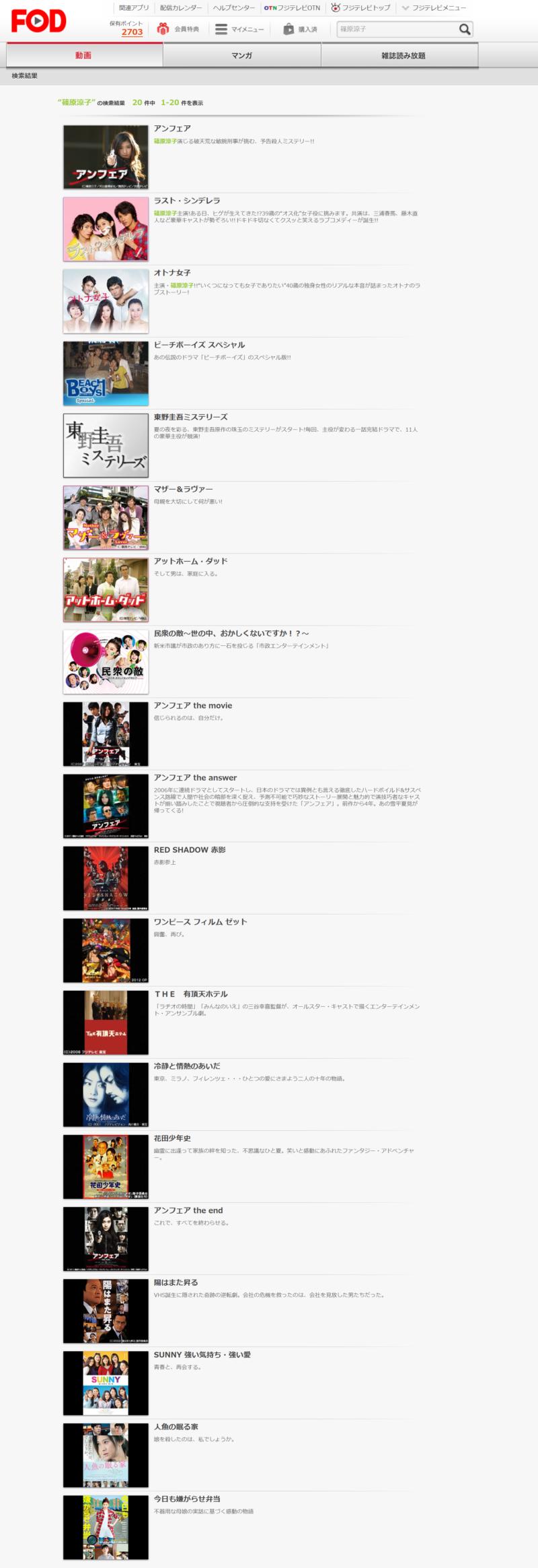 ラストシンデレラ(篠原涼子)の動画無料視聴方法FOD