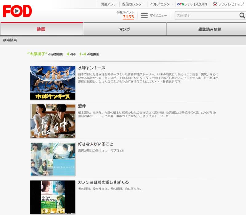 水ヤン(大原櫻子ドラマ)動画無料視聴方法FODと