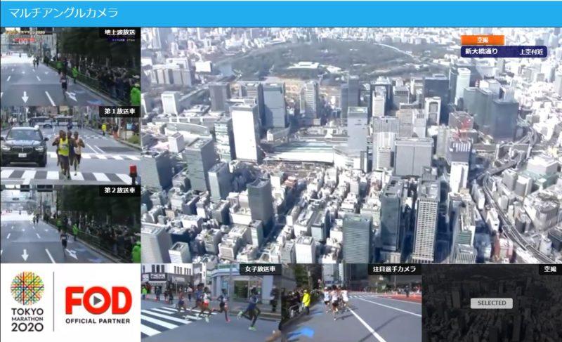 東京マラソン2020のFOD動画