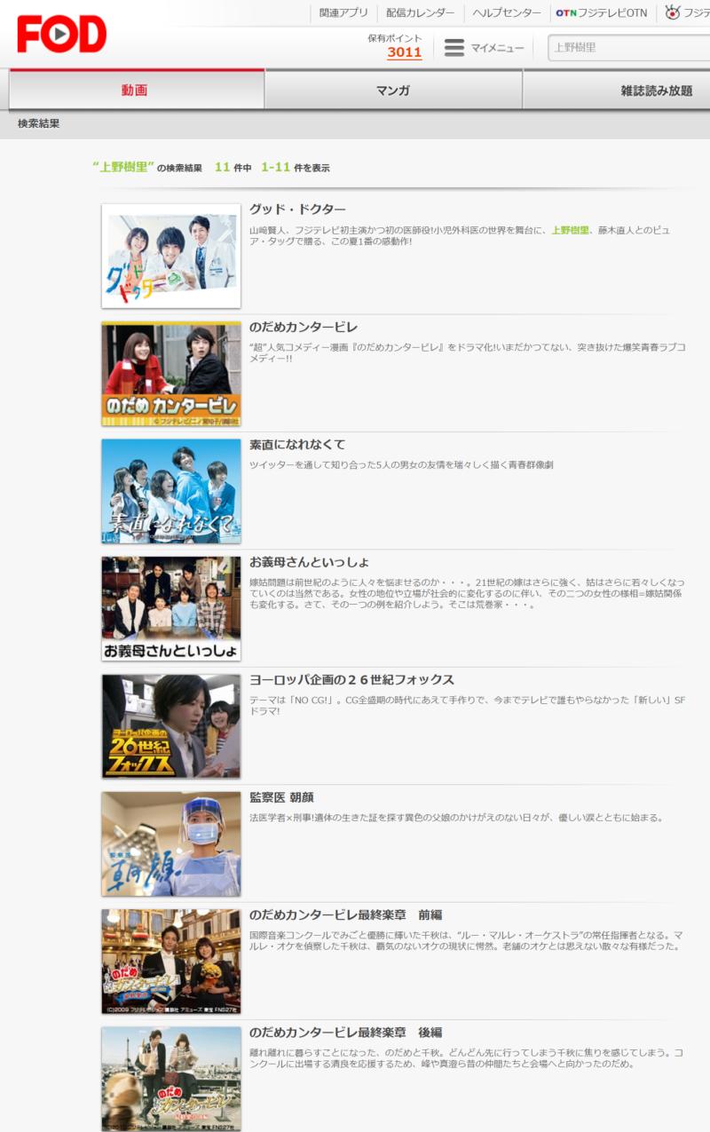 のだめ(上野樹里ドラマ)の動画無料視聴方法