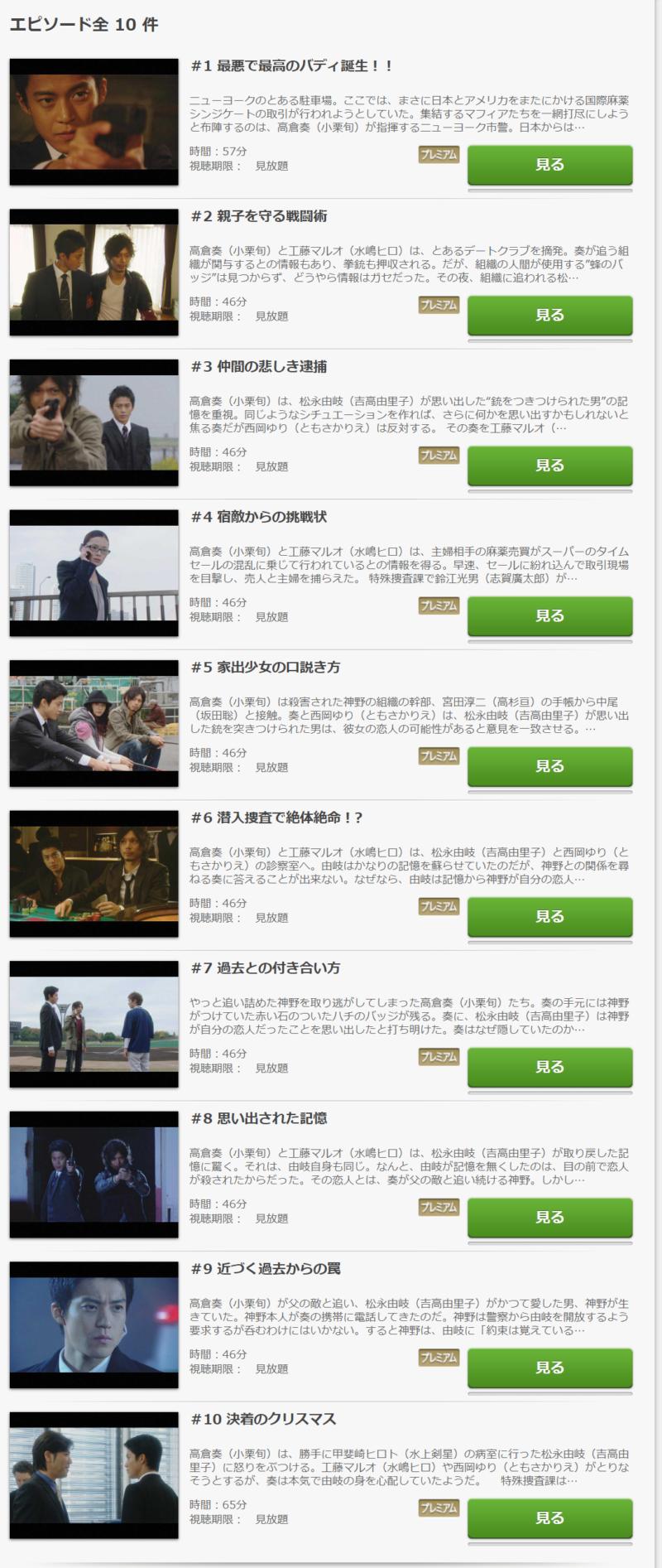 東京DOGS(ドラマ)の動画無料視聴方法