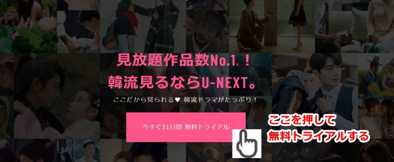 韓流ドラマのオススメ動画配信サービスU-NEXT